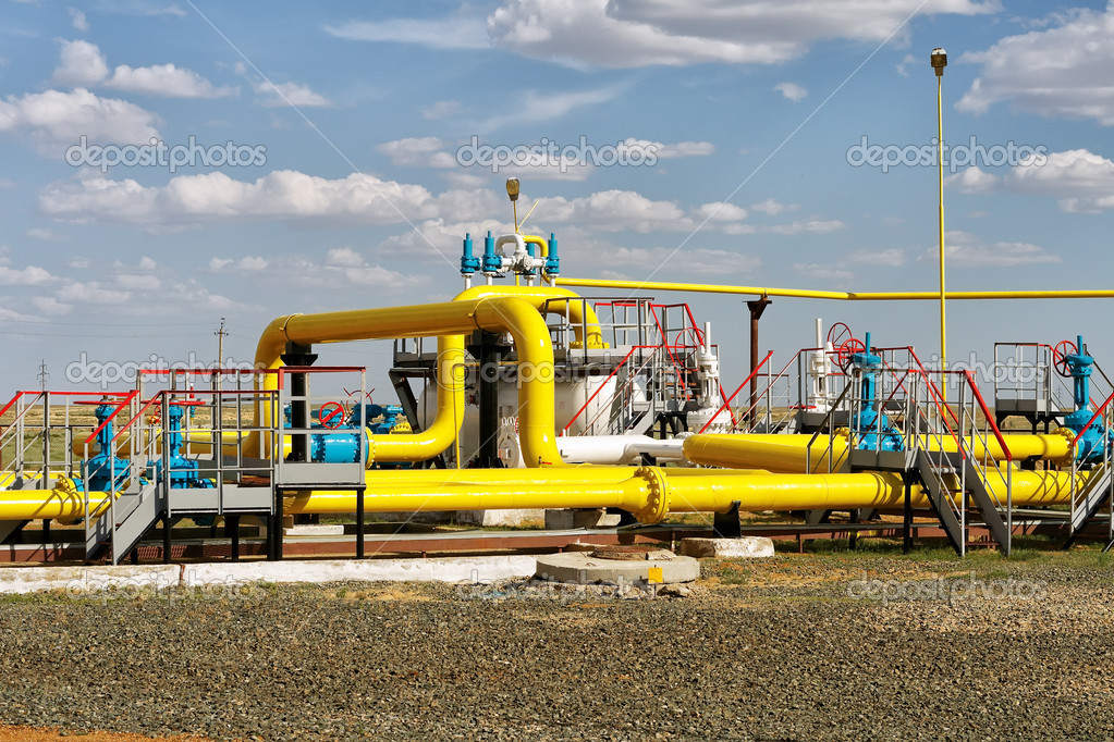 Process unit for gas processing, the overall plan. — Stock Photo #11464451