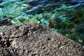 Roccia con texture e acqua fredda — Foto Stock