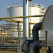 View of storage tanks at a refinery — Stock Photo #12370432