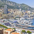 Stock Photo: City of Monaco during the Formula One season