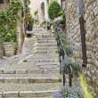Street in the medieval city of Saint Paul de Vence, France - Stock Photo