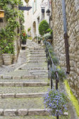 Street in the medieval city of Saint Paul de Vence, France — Stock Photo