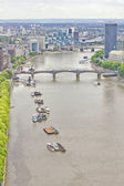 Aerial view of London and the Thames River — Foto de Stock