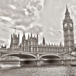 Stock Photo: Westminster Bridge with Big Ben, London, UK