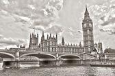 Westminster Bridge with Big Ben, London, UK — Stock Photo