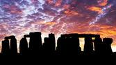 Sunset in the Stonehenge — Stock Photo
