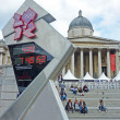 Trafalgar Square prepared for the Olympic Games — Stock Photo #12199222