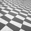 Black and white pavement — Stockfoto