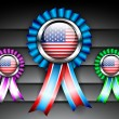 Set of ribbons or batch for 4 July American Independence Day and other events, — Vector de stock