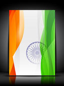Abstract Indian Flag on grey isolated background for Republic Day, Independence Day and other occasions. — Stock Vector