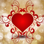 Abstract Beautiful Heart. — Stock Vector