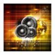Beautiful shiny background with music speakers and ornament. vec — Stockvektor