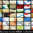 Mega collection of 42 abstract professional and designer busines — Stock Vector