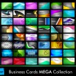 Stock Vector: Megcollection of 64 slim professional and designer business ca