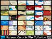 Mega collection of 42 abstract professional and designer busines — Vetorial Stock