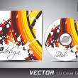 CD cover presentation design template with copy space and wave effect, editable EPS10 vector illustration. — Stock Vector #10847395