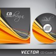 CD cover presentation design template with copy space and wave effect, editable EPS10 vector illustration. — Imagen vectorial
