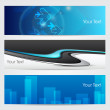 Vector illustration of banners or website headers with blue color concept editable effect. with EPS 10 format — Stock Vector #10848235