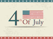 4th of july independence day on grungy background. — Stock Vector