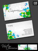 Professional business cards, template or visiting card set. and circle effect, abstract corporate look, EPS 10 Vector illustration. — Stock Vector