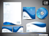 Professional CorporateIdentity kit or business kit with abstract wave pattern . — Stock Vector