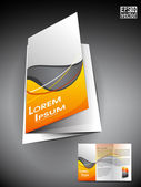 Professional business tri fold brochure — Stock Vector