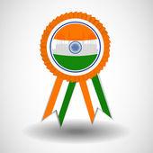 иллюстрация значка или ленты для индийских день независимости или день республики и других мероприятий, изолированные на фоне серого цвета. eps 10. — Cтоковый вектор