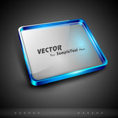 Abstract 3D glossy glass plate with text space, isolated on grey. can be use as a background, poster, icon or banner for your business presentation and other purpose. EPS 10. — Stock Vector
