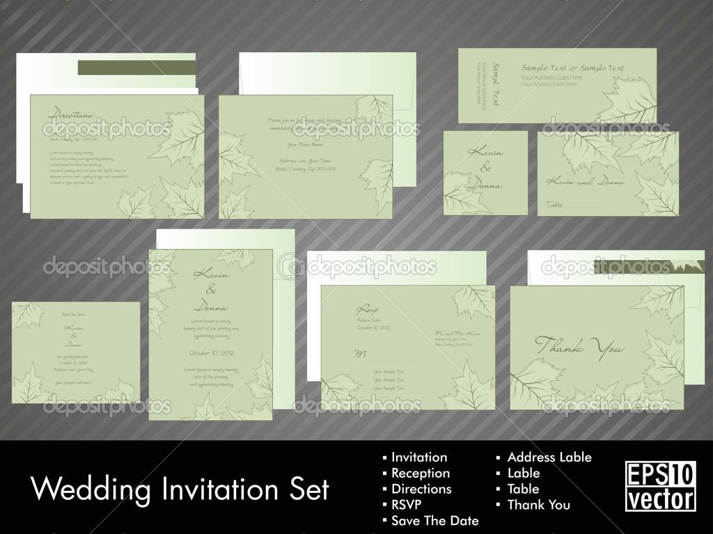 lime green wedding invitation kits - new wedding, Wedding invitations
