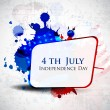 Illustration of AmericIndependence Day of 4th July with copy space on grungy flag color background.EPS 10. Cbe use as banner, poster and flyer. — Stock Vector #10996685