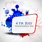 Illustration of American Independence Day of 4th July with copy space on grungy flag color background.EPS 10. Can be use as banner, poster and flyer. — Stock Vector