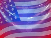Amerikansk flagga bakgrund för 4 juli amerikanska Självständighetsdagen och andra händelser eller tillfällen. Eps 10. — Stockvektor