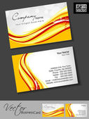 Professional business cards, template or visiting card set. Colorful Artistic wave effect with grunge, abstract corporate look, EPS 10 Vector illustration. — Stock Vector