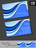 Professional business cards, template or visiting card set. Blue Artistic wave effect, abstract corporate look, EPS 10 Vector illustration. — Stock Vector