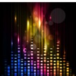 Abstract colorful background with waves of music. vector. — Stok Vektör