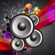 Abstract music event with a colorful background. — Stock Vector
