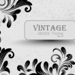 Vintage Illustration with creative floral decoration. Vector. — Stock Vector