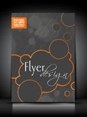 Abstract flyer template or Poster design. — Vector de stock