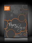 Diseño de plantilla o cartel abstracto flyer. — Vector de stock