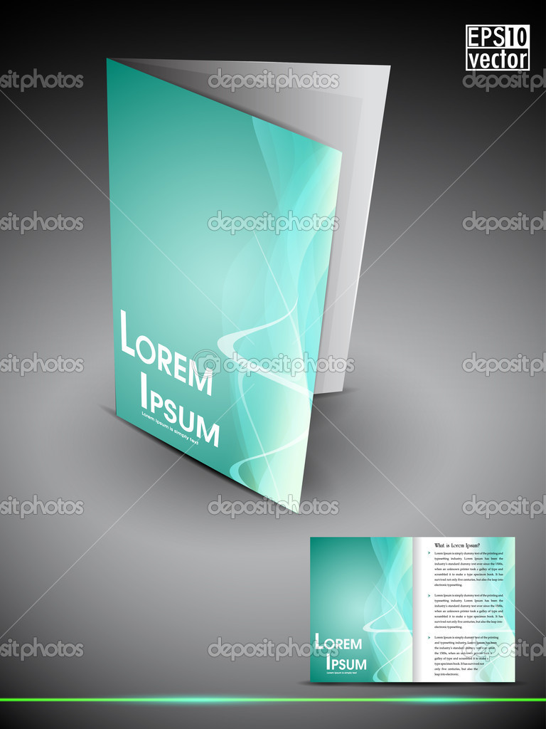 professional 3d business flyer template or corporate brochure or professional 3d business flyer template or corporate brochure or stock vector 11051340