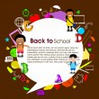 Back to school background. EPS 10. - ベクター素材ストック