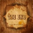 Royalty-Free Stock Vector Image: The End. Moving ending screen. EPS 10.