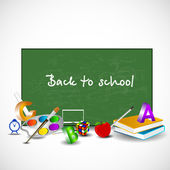 Back to school background. EPS 10. — Stock Vector