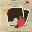 Retro scrap booking elements, Love background. EPS 10. — Vettoriali Stock