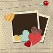 Retro scrap booking elements, Love background. EPS 10. — Imagen vectorial