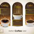 Sets of label design. Menu for restaurant, cafe, bar, coffeehouse. EPS 10.  — Stockvektor