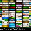 Vector de stock : Megcollection of 78 abstract professional and designer busine