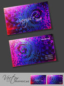 Colorful mosaic editable vector business card template eps 10 design, for more business card template of this type please visit my portfolio. — Stock Vector