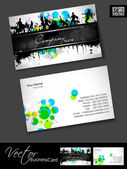 Professional business cards, template or visiting card set. and music concept effect, abstract corporate look, EPS 10 Vector illustration. — Stock Vector