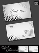 Professional business cards, template or visiting card set. and halftone effect, abstract corporate look, EPS 10 Vector illustration. — Stock Vector